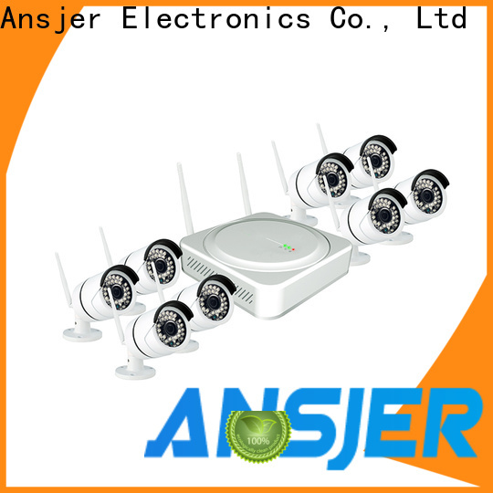 Ansjer cctv security wireless cctv camera system with night vision for home