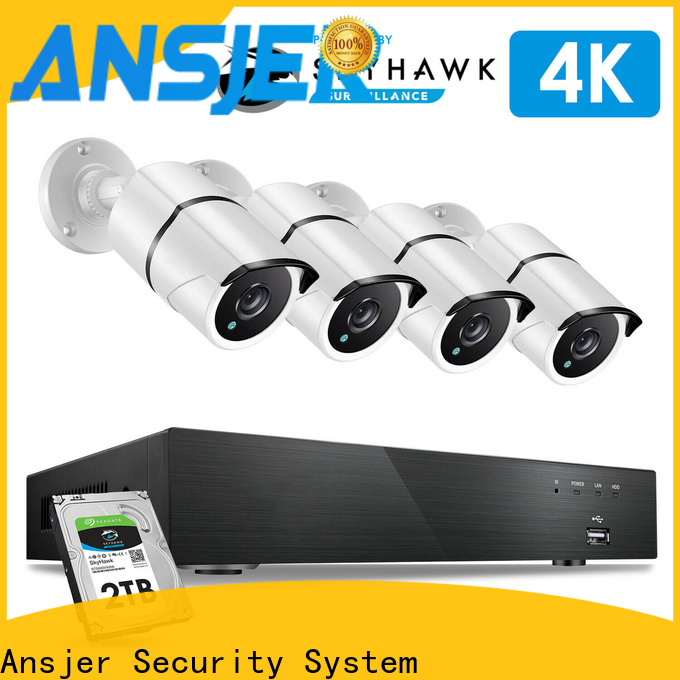 Ansjer cctv vision 4k camera system supplier for office