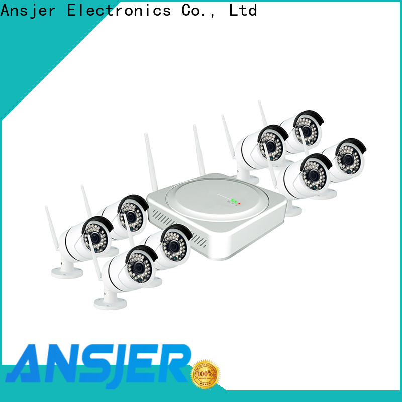 Ansjer cctv motion wireless cctv camera system with night vision for home