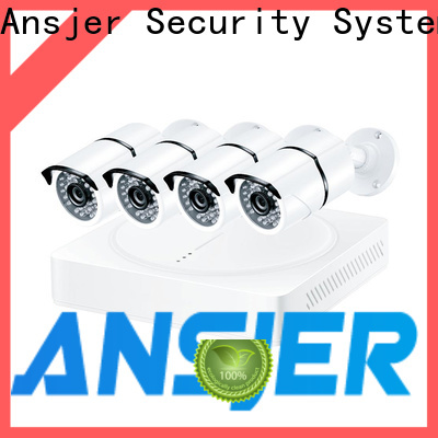 Ansjer cctv recorder 1080p outdoor security camera system supplier for office