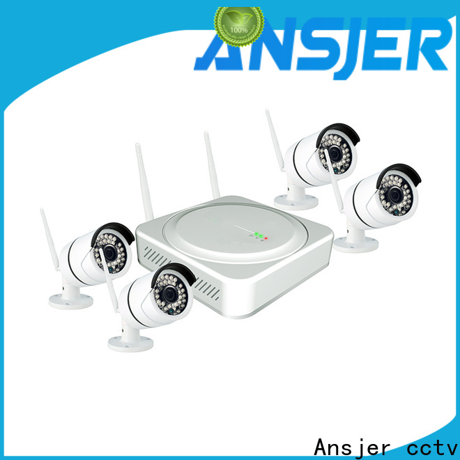 Ansjer cctv high quality best wireless security camera system supplier for office