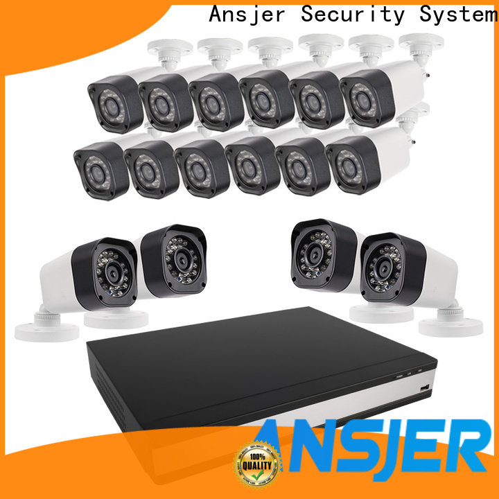 Ansjer cctv high quality 720p security camera system with night vision for surveillance