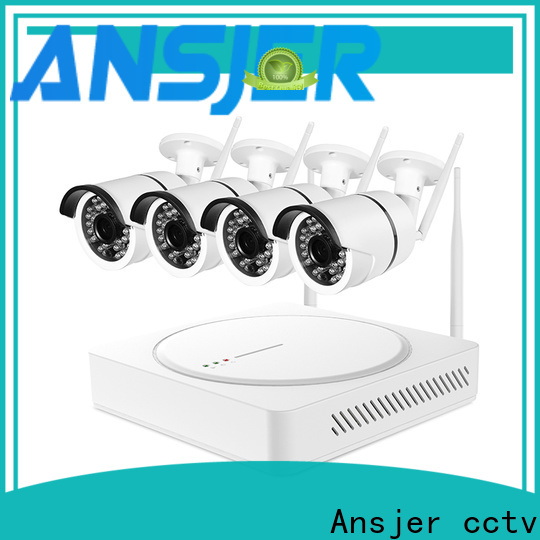 Ansjer cctv durable outdoor wireless security camera system manufacturer for office