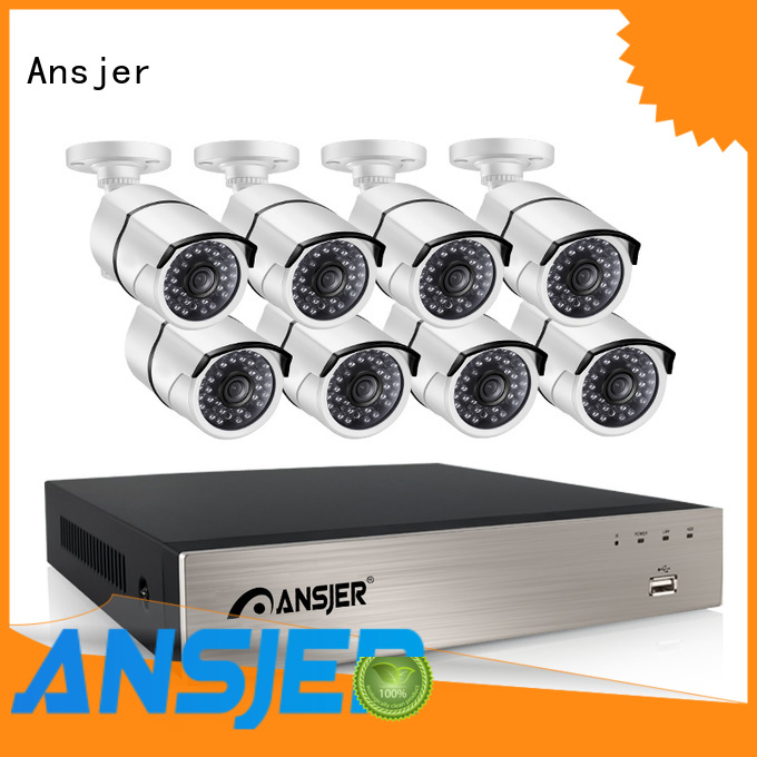 security system camera durable 1080p poe nvr Ansjer