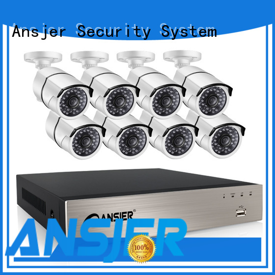 Ansjer cctv channel 1080p poe camera series for home