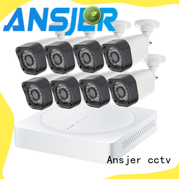 Ansjer cctv 720p camera system with night vision for surveillance