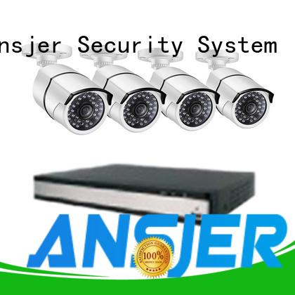 alert 1080p poe security system supplier for surveillance Ansjer cctv