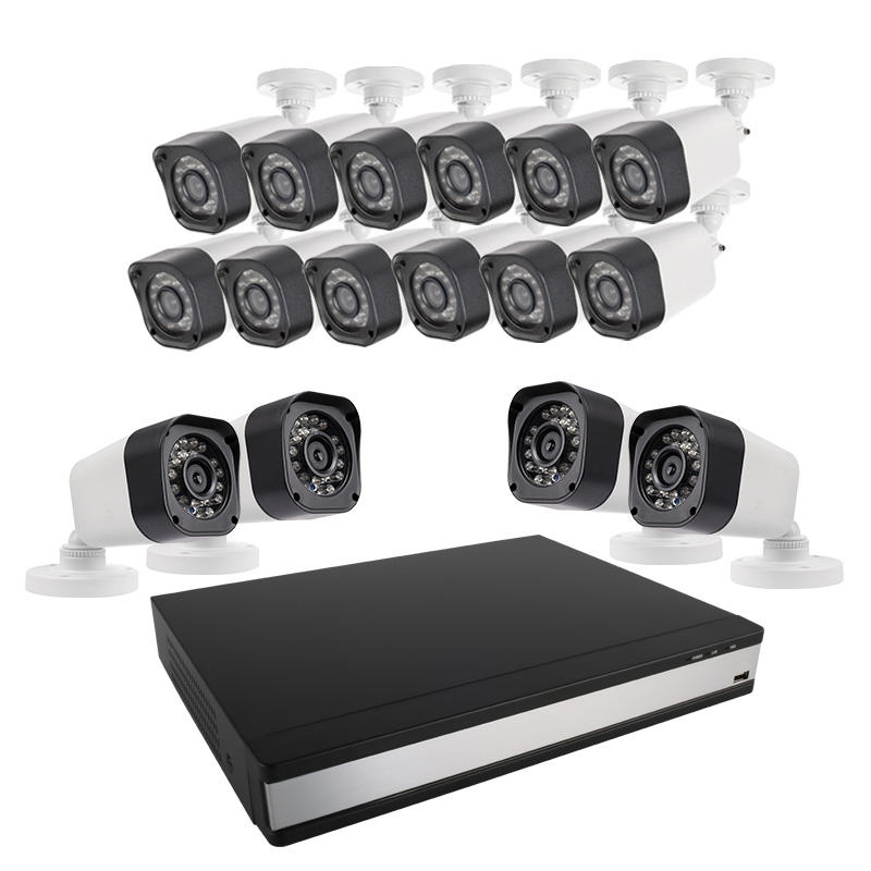 Ansjer-Ansjer 720P 16CH CCTV DVR Kit 10MP Weatherproof IP66 Surveillance System Camera