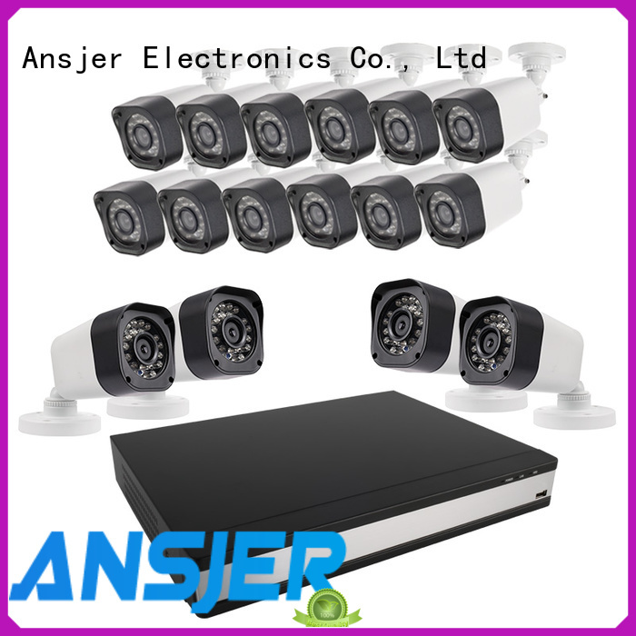 Ansjer cctv viewing 720p camera system with night vision for home