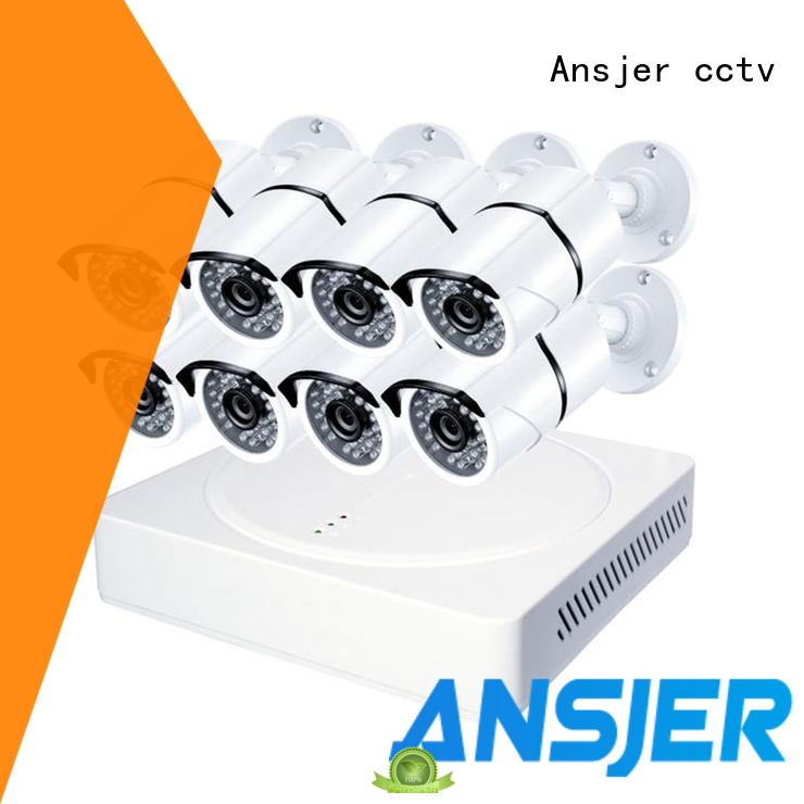 Ansjer 4K Ultra HD H.265 Home Security Camera System, 8 Channel DVR Recorder with 8 HD 8.0MP Outdoor/Indoor Bullet Cameras IP66, 100FT Night Vision, Motion Detection Email Alert, Internet & Smartphone Viewing