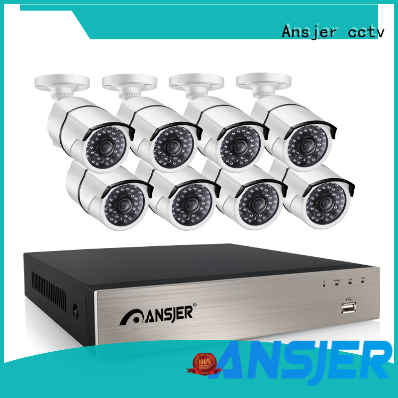 Ansjer 1080P HD H.265 POE NVR Security Camera System, 8 Channel Video Recorder with 8 HD 2.0MP Outdoor/Indoor Surveillance Cameras IP66, 100FT Night Vision, Internet & Smartphone Viewing, Motion Email Alert