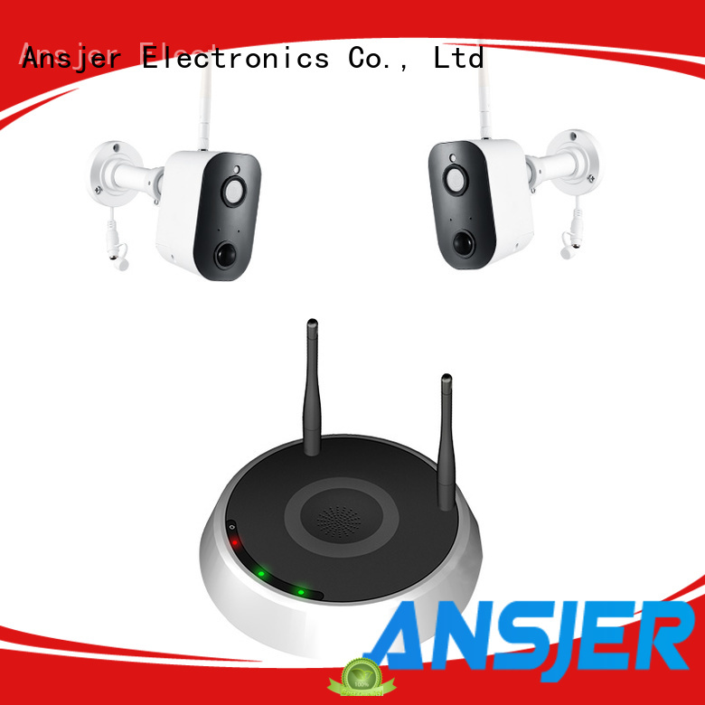 Ansjer 1080P HD H.264 100% Wireless Home Security Indoor System, Battery Camera with Two-Way Audio, PIR Motion Detection