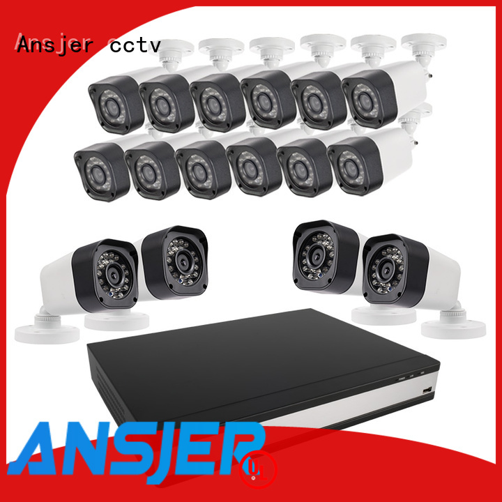 Ansjer cctv home 720p surveillance camera system with night vision for home