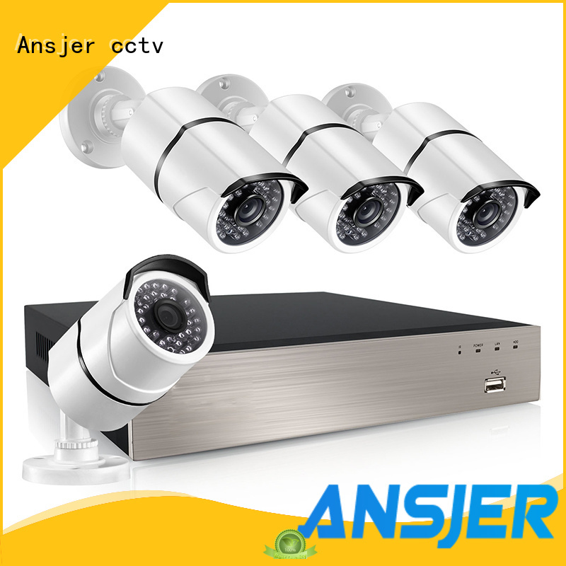 Ansjer cctv channel poe ip camera 1080p series for indoors or outdoors