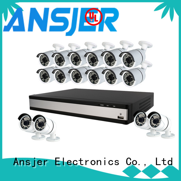 Ansjer cctv high quality 1080p security camera system supplier for indoors or outdoors