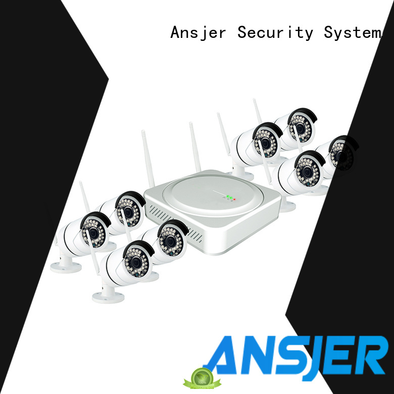 Ansjer cctv wireless outdoor wireless security camera system supplier for indoors or outdoors