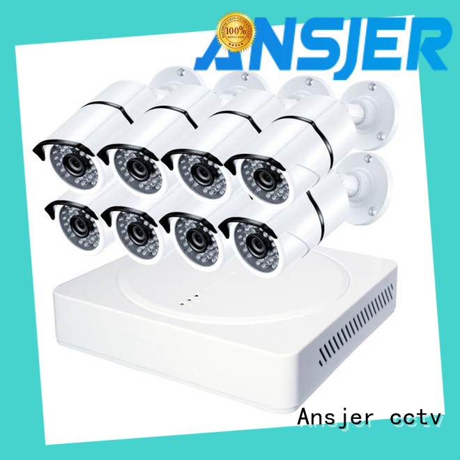 Ansjer cctv durable 4k surveillance camera system series for indoors or outdoors