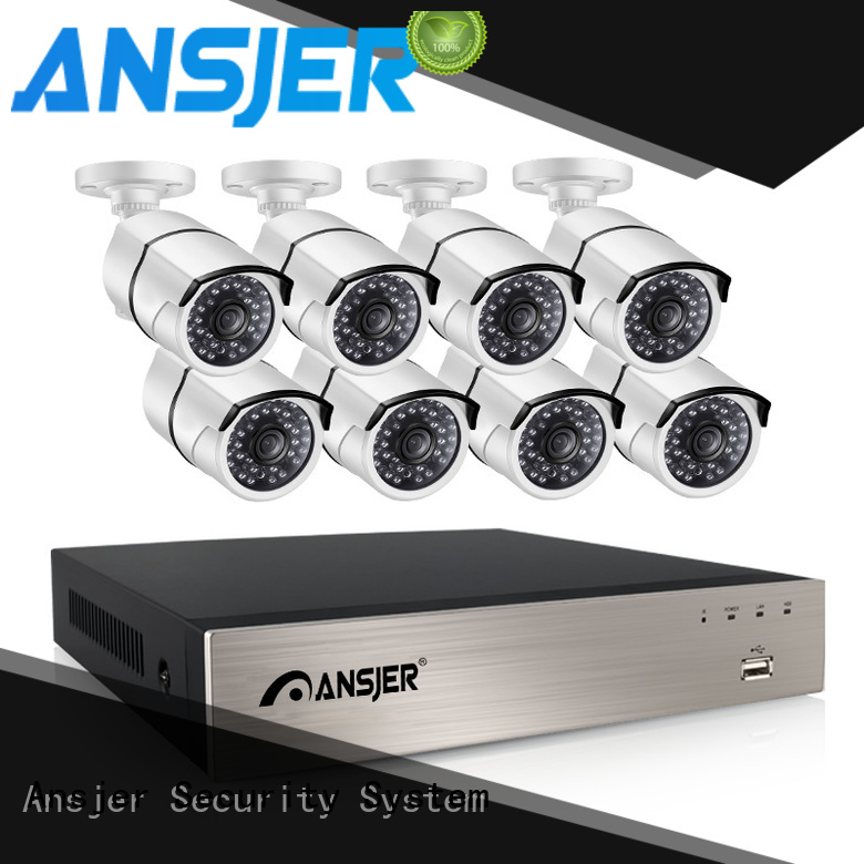Ansjer cctv bullet poe ip camera 1080p supplier for indoors or outdoors
