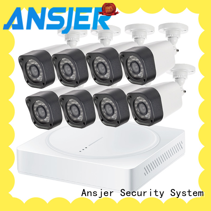Ansjer cctv recorder 720p security camera system with night vision for office
