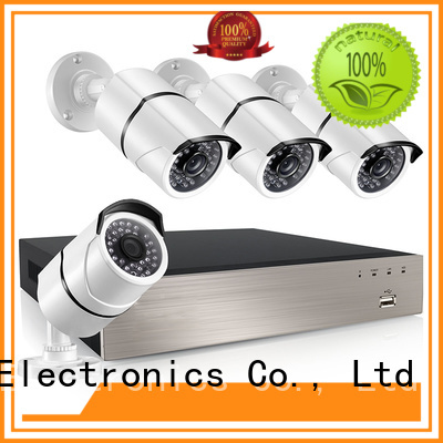 electric night vision security system supplier for office Ansjer cctv