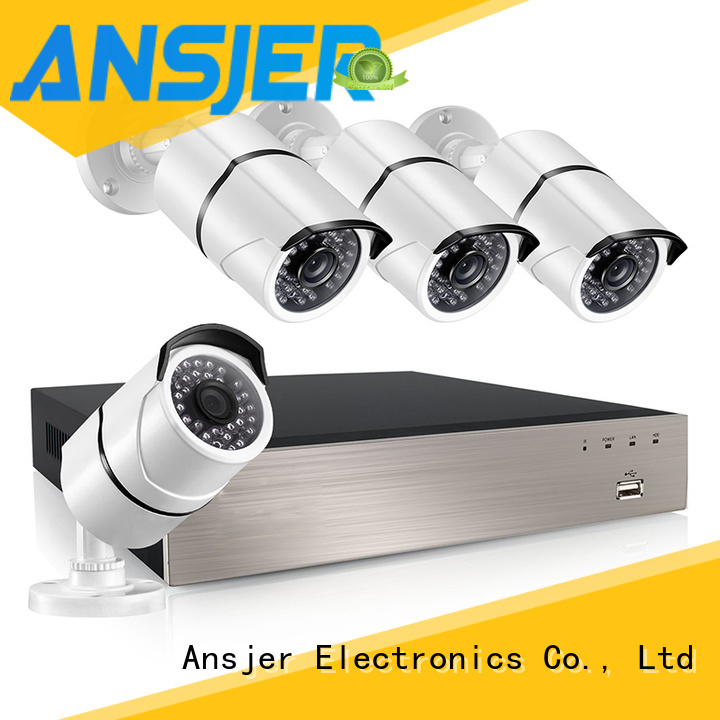 Ansjer cctv electric poe security camera system 1080p manufacturer for office