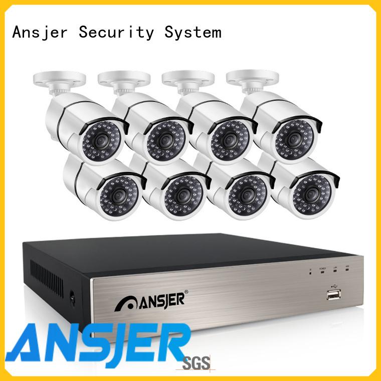 Ansjer cctv night 1080p poe nvr supplier for surveillance
