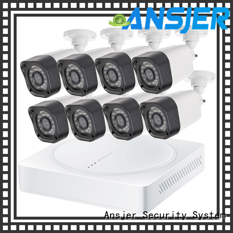 720p surveillance camera system kit with night vision for home