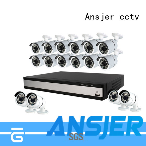 Ansjer cctv channel 1080p dvr security system series for surveillance