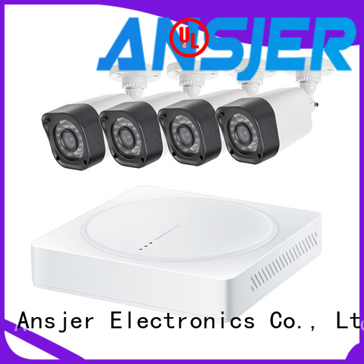 Ansjer cctv electric best 720p security camera system with night vision for indoors or outdoors