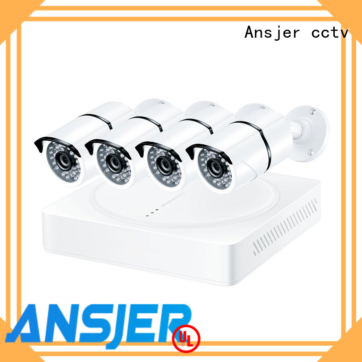Ansjer 4K Ultra HD H.265 Home Security Camera System, 4 Channel DVR Recorder with 4 HD 8.0MP Outdoor/Indoor Surveillance Cameras IP66, 100FT Night Vision, Motion Email Alert, Internet & Smartphone Viewing
