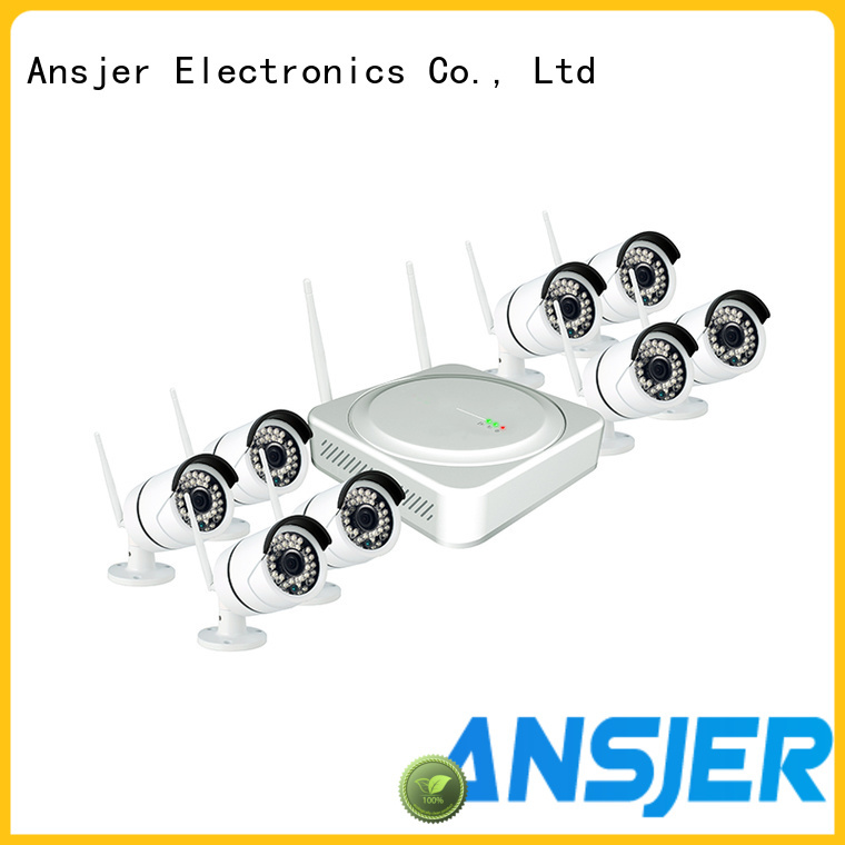 Ansjer cctv security outdoor wireless security camera system wholesale for home