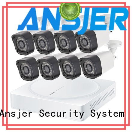 Ansjer cctv channel 720p bullet camera with night vision for surveillance