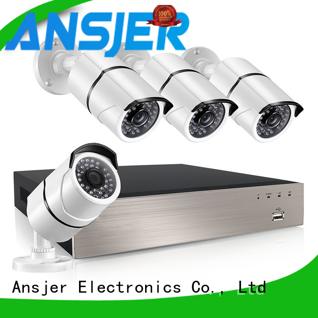 Ansjer cctv channel 1080p poe supplier for indoors or outdoors
