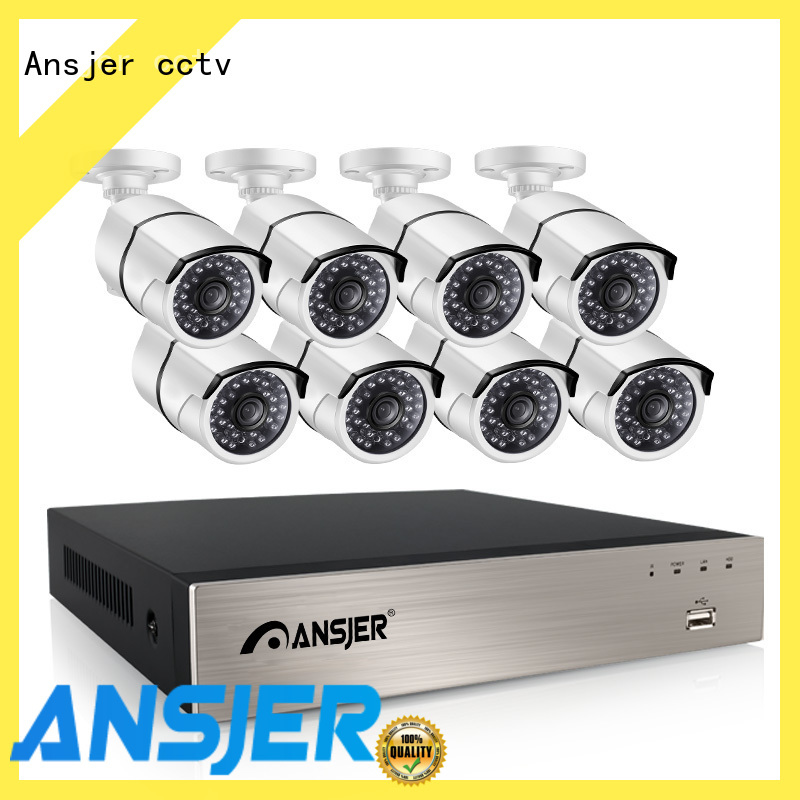 Ansjer cctv video 5mp poe camera series for home