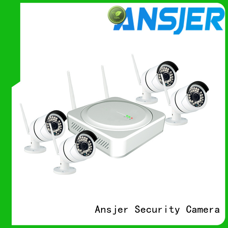 channel surveillance indoor Ansjer Brand 4 camera wireless security system manufacture