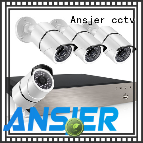Ansjer 1080P HD H.265 POE NVR Security Camera System, 4 Channel Video Recorder with 4 HD 2.0MP Outdoor/Indoor Bullet Cameras IP66, 100FT Night Vision, Motion Detection Email Alert, Internet & Smartphone Viewing
