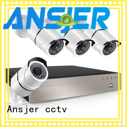 Ansjer cctv home 1080p poe security system wholesale for indoors or outdoors