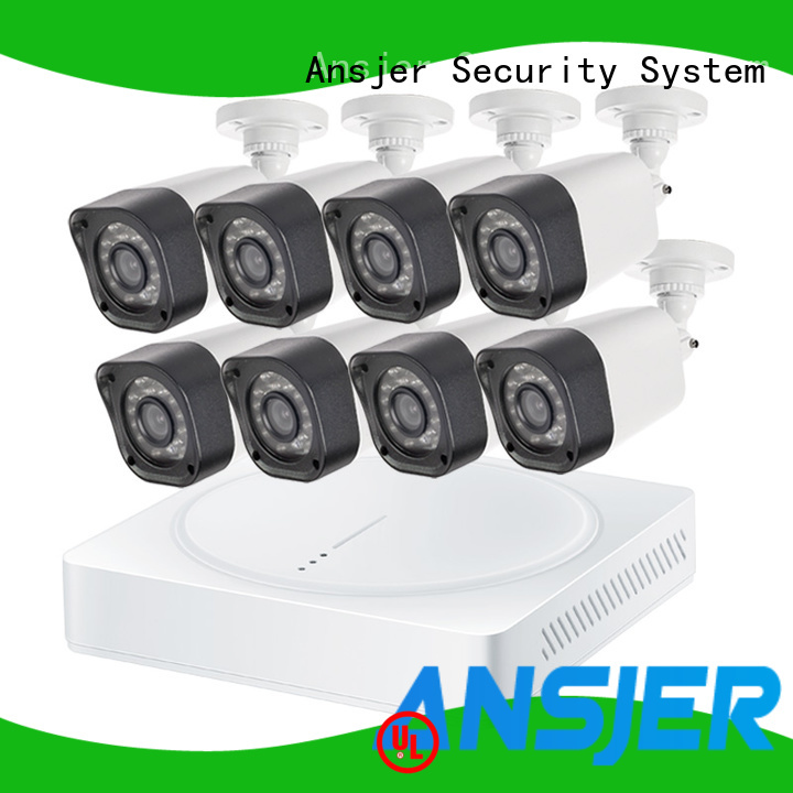 Ansjer cctv vision 720p hd security camera system with night vision for home
