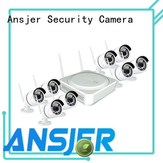outdoor durable channel ip camera Ansjer Brand 1080p hd wireless security camera system supplier