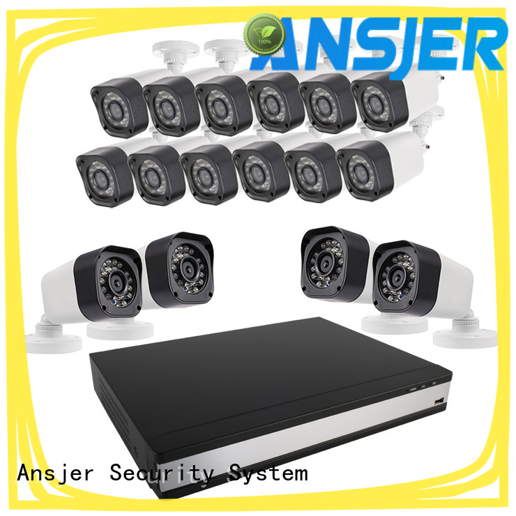 Ansjer cctv electric 720p camera system with night vision for indoors or outdoors