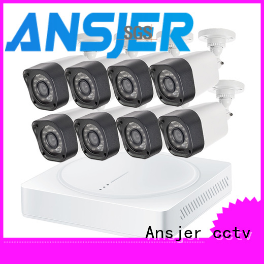 Ansjer 720P HD H.264 Home Security Camera System, 8 Channel DVR Recorder with 8 HD 1.0MP Outdoor/Indoor Bullet Cameras IP66, 60FT Night Vision, Motion Email Alert, Internet & Smartphone Viewing