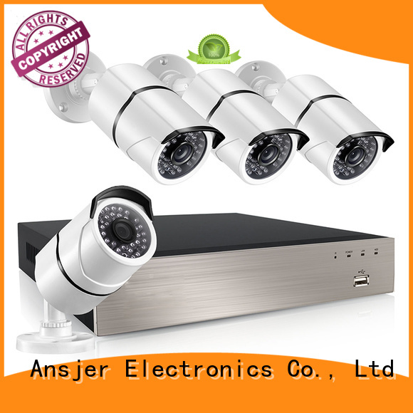 Ansjer 2K HD H.265+ POE NVR Security Camera System, 4 Channel Video Recorder with 4 HD 5.0MP Outdoor/Indoor Bullet Cameras IP66, 100FT Night Vision, Motion Detection Email Alert, Internet & Smartphone Viewing