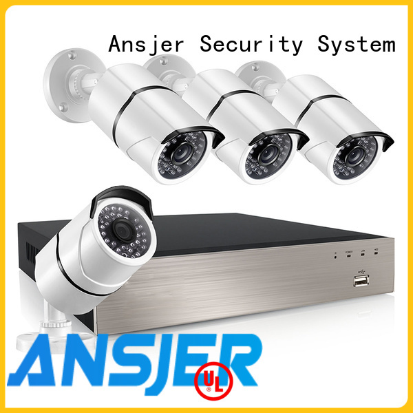 Ansjer cctv electric nvr 5mp series for indoors or outdoors