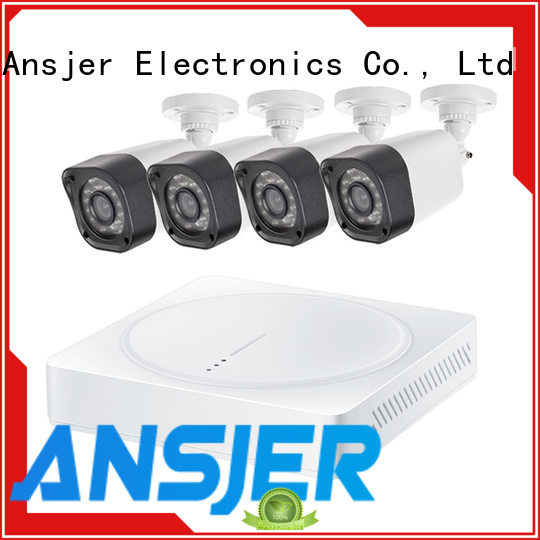 Ansjer cctv kit 720p camera system with night vision for indoors or outdoors
