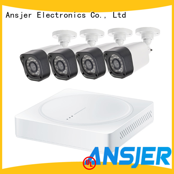 Ansjer 720P HD H.264 Home Security Camera System, 4 Channel DVR Recorder with 4 HD 1.0MP Outdoor/Indoor Bullet Cameras IP66, 60FT Night Vision, Motion Detection Email, Internet & Smartphone Viewing