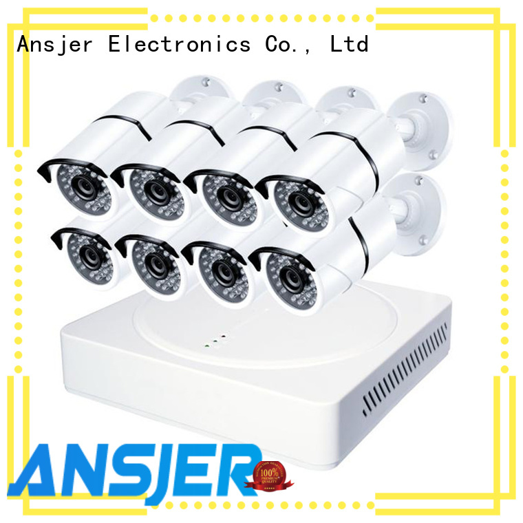 Ansjer cctv vision 8mp security camera system supplier for surveillance