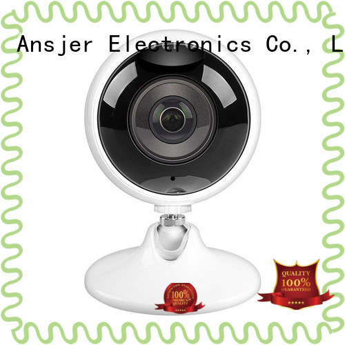 Ansjer 3.0MP Ultra HD Wireless WiFi Indoor VR Camera 360 Degree Panoramic IP Camera for Baby Pet Monitor, Fisheye Lens, Night Vision, Two-way Audio, Remote Monitoring, Motion Detection