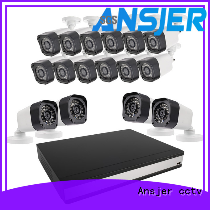 Ansjer cctv durable 720p camera system supplier for office