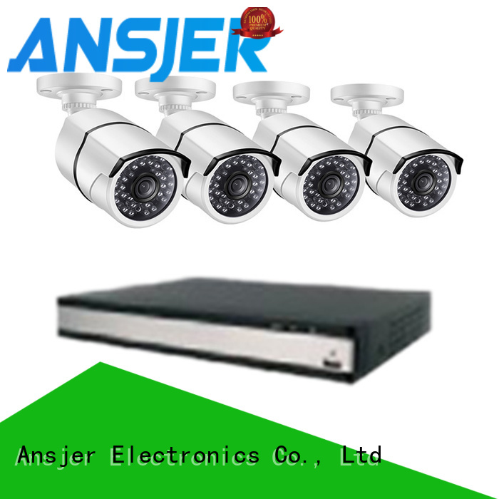 Ansjer cctv night 1080p poe security camera series for surveillance