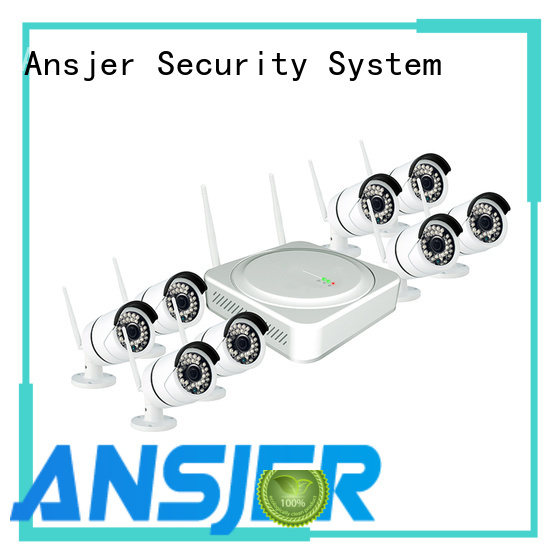 Ansjer 1080P HD H.264 Wireless NVR Security System, 8 Channel Video Recorder with 8 HD 2.0MP Outdoor/Indoor Wireless IP Cameras IP66, 100FT Night Vision, Motion Email Alert, Internet & Smartphone Viewing, Free App iOS and Andriod